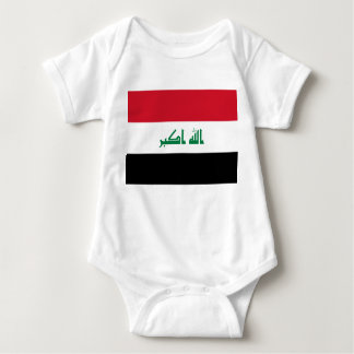 Iraq National World Flag Baby Bodysuit