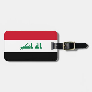 Iraq National World Flag Luggage Tag