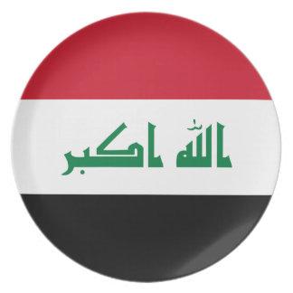 Iraq National World Flag Plate