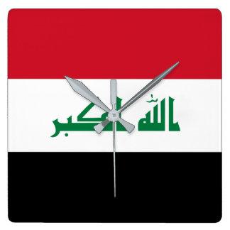 Iraq National World Flag Square Wall Clock