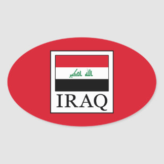 Iraq Oval Sticker