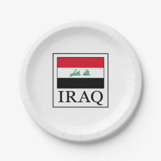 Iraq Paper Plate