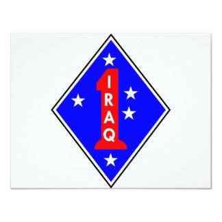 """Iraq Patch #1 4.25"""" X 5.5"""" Invitation Card"""