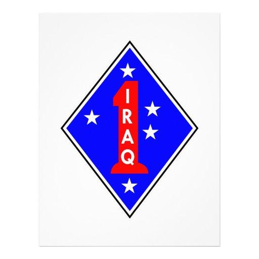 Iraq Patch #1 Customized Letterhead