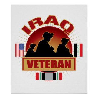 Iraq Vet Flags Poster