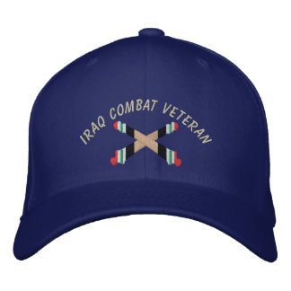 Iraq Veteran Artillery Crossed Cannon Hat Embroidered Hat