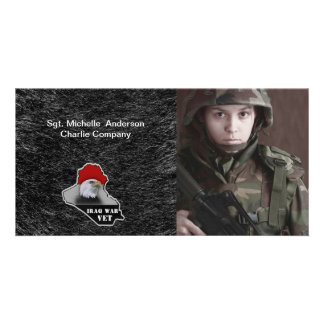 Iraq War Military Veteran Custom Photo Card