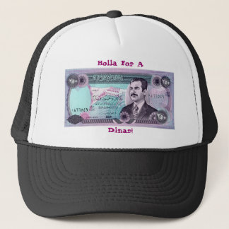 Iraqi Dinar with Saddam Hussein Trucker Hat