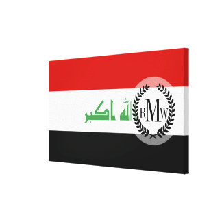 Iraqi Flag Canvas Print