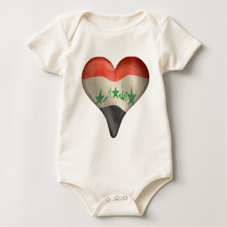 Iraqi Flag In A Heart Baby Bodysuit