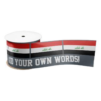 Iraqi Flag Satin Ribbon
