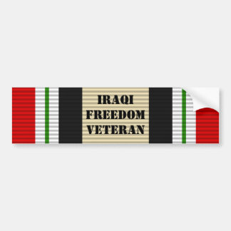 Iraqi Freedom Veteran Bumper Sticker