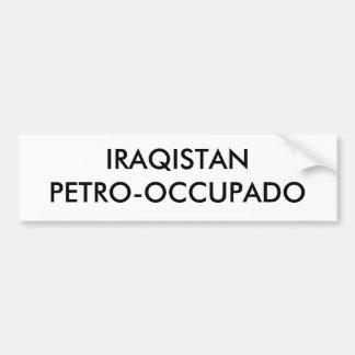 IRAQISTANPETRO-OCCUPADO BUMPER STICKER