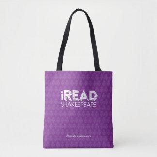 iReadShakespeare tote bag in purple
