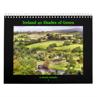 Ireland 40 Shades of Green Calendar
