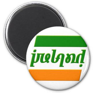 'Ireland' Ambigram 2 Inch Round Magnet