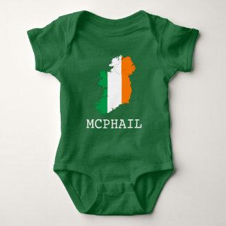 Ireland and Surname Baby Bodysuit