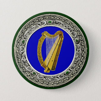 Ireland Arms 3 Inch Round Button