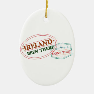 Ireland Been There Done That Ceramic Oval Ornament