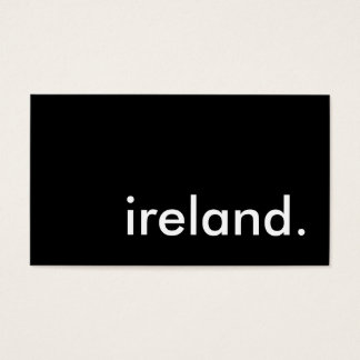 ireland. business card