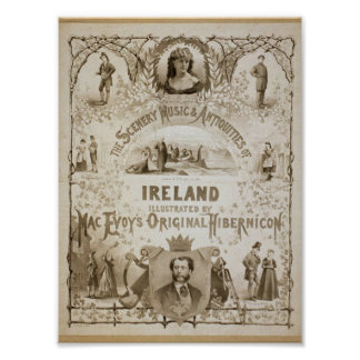 Ireland, by 'Mac Evoy's Original Hibernicon' Poster
