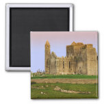 Ireland, Cashel. Ruins of the Rock of Cashel Square Magnet