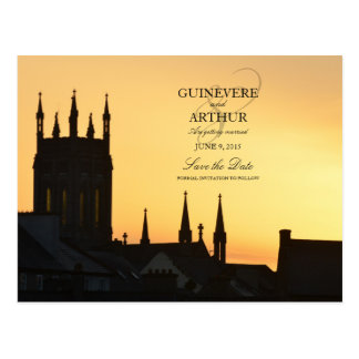 Ireland Castle Abbey Wedding Save the Date Postcard