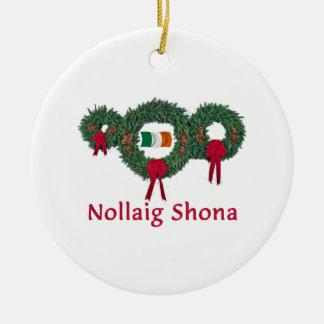 Ireland Christmas 2 Ceramic Ornament