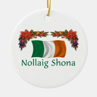 Ireland Christmas Ceramic Ornament