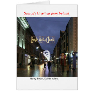 Ireland Christmas Greeting Card