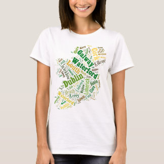 Ireland Cities Word Art T-Shirt