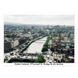 Ireland city skyline, O'Connell Bridge Dublin Postcard
