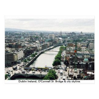 Ireland city skyline, O'Connell Bridge Dublin Postcard