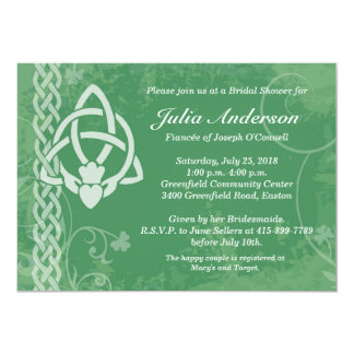 Ireland Claddagh Bridal Shower Invitation