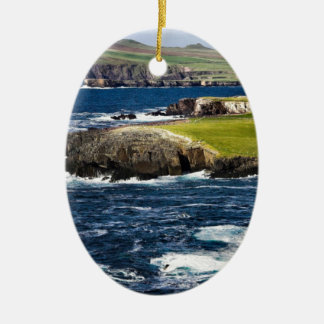 Ireland coast ceramic ornament