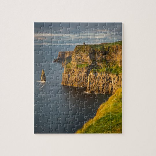 Ireland coastline at sunset jigsaw puzzle