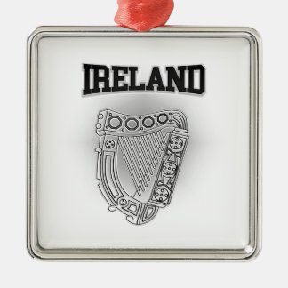 Ireland Coat of Arms Metal Ornament