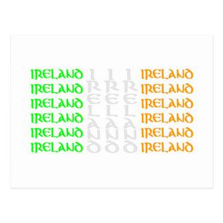 Ireland - Colours of the Irish Tricolour Flag Postcard
