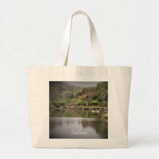 Ireland, County Cork, Lake, Swans, Photography Large Tote Bag