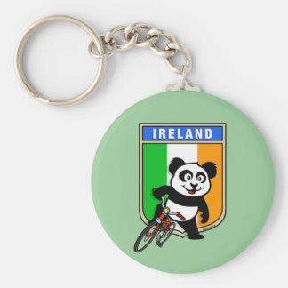 Ireland Cycling Panda Keychain