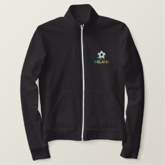 IRELAND Eire Ladies Embroidered Soccer Jogger Jack Jacket