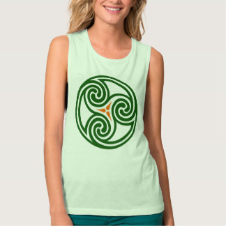 Ireland Èire Triskele Triple Spiral Design Tank Top
