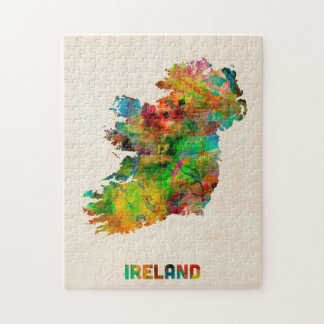 Ireland Eire Watercolor Map Puzzle