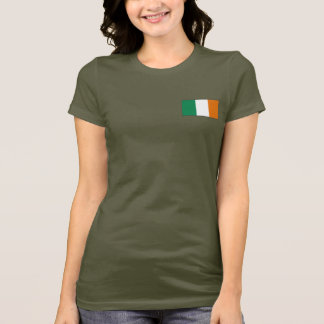 Ireland Flag and Map dk T-Shirt