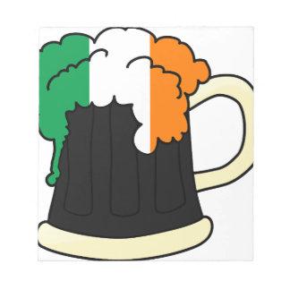 Ireland Flag Beer Mug Notepad
