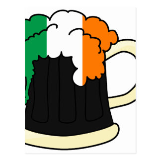 Ireland Flag Beer Mug Postcard