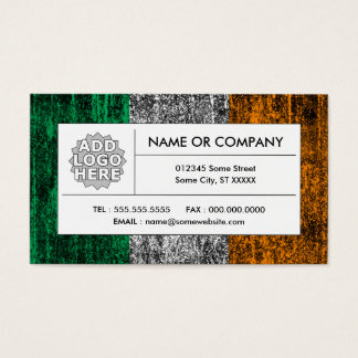 ireland flag business card