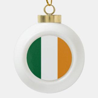Ireland Flag Ceramic Ball Ornament