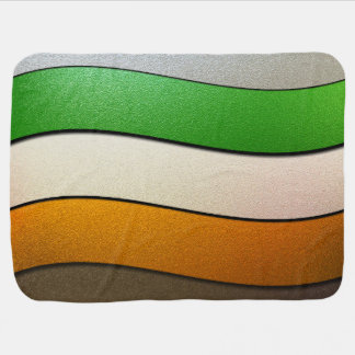 Ireland Flag Colors-Chrome Baby Blanket
