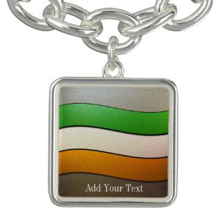 Ireland Flag Colors-Chrome by Shirley Taylor Bracelets